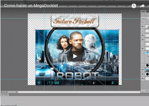 "Screenshot for .PSD Templates + Video Tutorial ""How to make a MegaDocklet"" / ""Cómo hacer un MegaDocklet"""