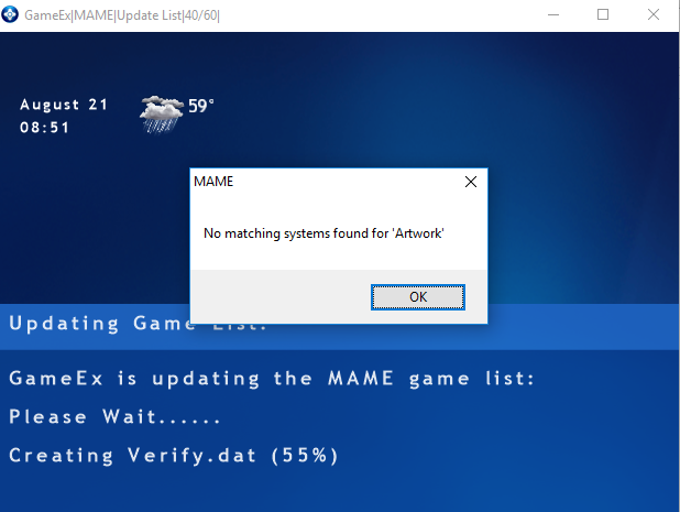 Mame updating game list