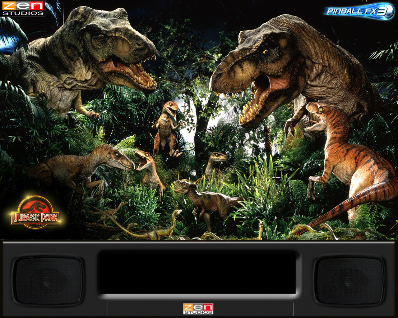 BackGlass Pinball FX3 Jurassic Parck - PinballX Media